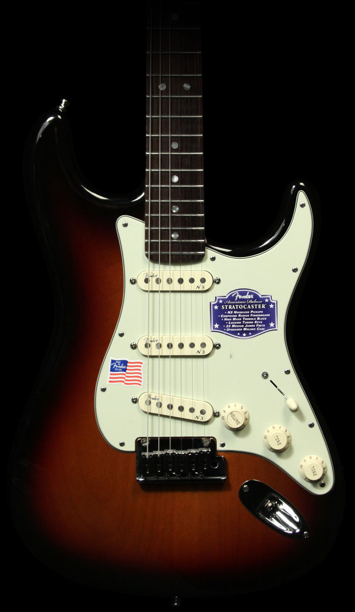 review fender american stratocaster deluxe 3 single a guitarra. Black Bedroom Furniture Sets. Home Design Ideas